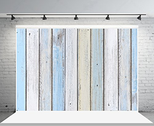 all Photography Backdrops for Photographers Blue and White Wood Background No Wrinkle Reused for Baby Fashion Photo Studio Props ()