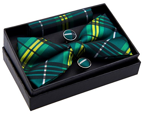 Stylish Tartan Plaid Check Woven Pre-tied Bow Tie (5