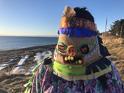 Cajun Courir de Mardi Gras Mask, traditional Mardi Gras costume, Halloween, carnival masquerade mask ()