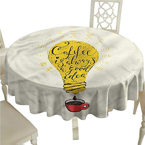 crabee Rectangle Table Cover ClothQuote,Coffee is Always a Good Idea,Table Cloth Home Decoration