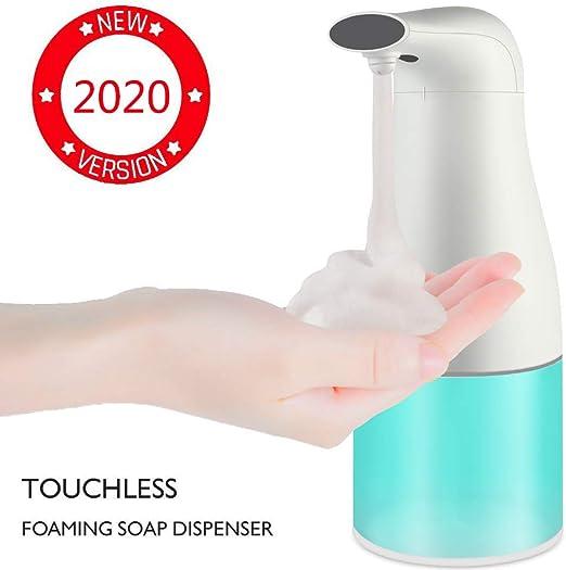 Bianco Automatico Sapone Dispenser Touchless Impermeabile Sapone Dispenser per Lavello Cucina Bagno