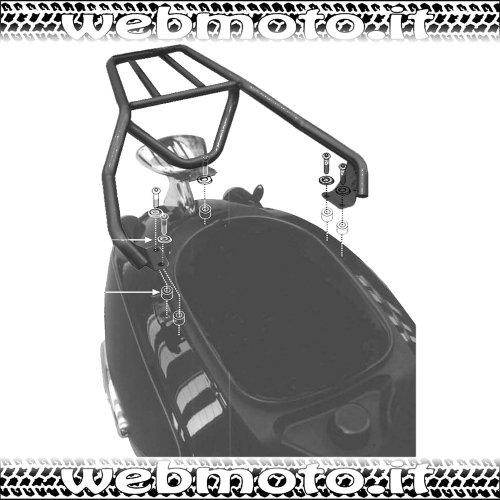 Aprilia Scooter - Givi Top Case Monolock scooter trunk mounting for Aprilia Habana, Mojito