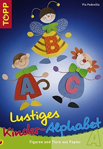 Lustiges Kinder-Alphabet: Figuren und Tiere aus Papier