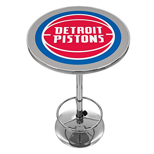 NBA Detroit Pistons Chrome Pub Table by Trademark Global