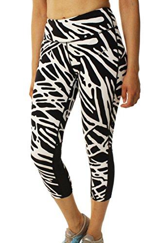 Nike Womens Printed Dri Fit Athletic Leggings B/W S