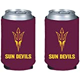 NCAA College 2014 Team Logo Color Can Kaddy Holder Cooler 2-Pack