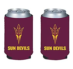 NCAA College 2014 Team Logo Color Can Kaddy Holder Cooler 2-Pack (Arizona State Sun Devils)