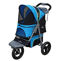 The G7 Jogger Pet Stroller is the perfect pet stroller for the active family. Whether walking or jogging, the G7 Jogger enables your pet to ride in style and comfort all while giving you some healthy exercise. With its 75-pound limit it can a...