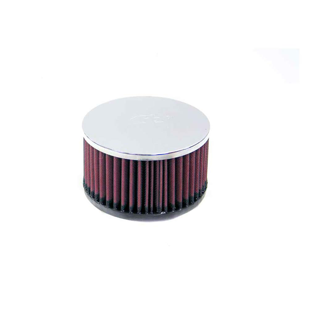 76 mm x 51 mm 54 mm 70 mm Height; 4 in x 3 in 102 mm x 76 mm Top Base; 3 in x 2 in Flange ID; 2.75 in K/&N RC-0981 Universal Clamp-On Air Filter: Oval Straight; 2.125 in