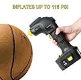 Cordless Rechargeable 12V Tire Inflator Built In