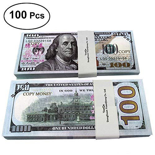 fef0250044 LingsFire Play Money Movie Prop Money Game Realistic Paper Money Toy Money  for Students Children School