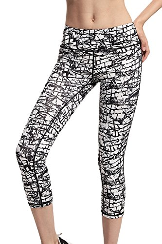 L Asher Activewear Printed Workout Leggings