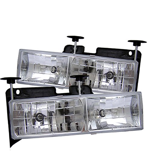Spyder Auto Chevy C/K Series 1500/2500/3500/Chevy Tahoe/GMC C/K Series 1500/2500/3500/GMC Jimmy/GMC Yukon Chrome Crystal Glass Headlight