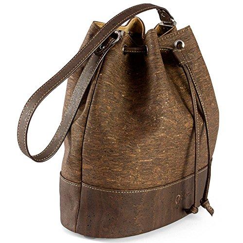 Corkor Borsa a Secchiello Tracolla Borsetta Bucket Bag Sughero Vegano tree