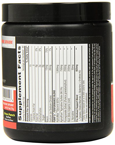 Betancourt Nutrition Pump'd Pre-Workout Supplement, Citrus Punch, 210 Gram