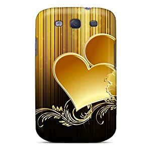 New Fashionable Kimmith OYvaY15233EziNz Cover Case Specially Made For Galaxy S3(hearts Of Gold)