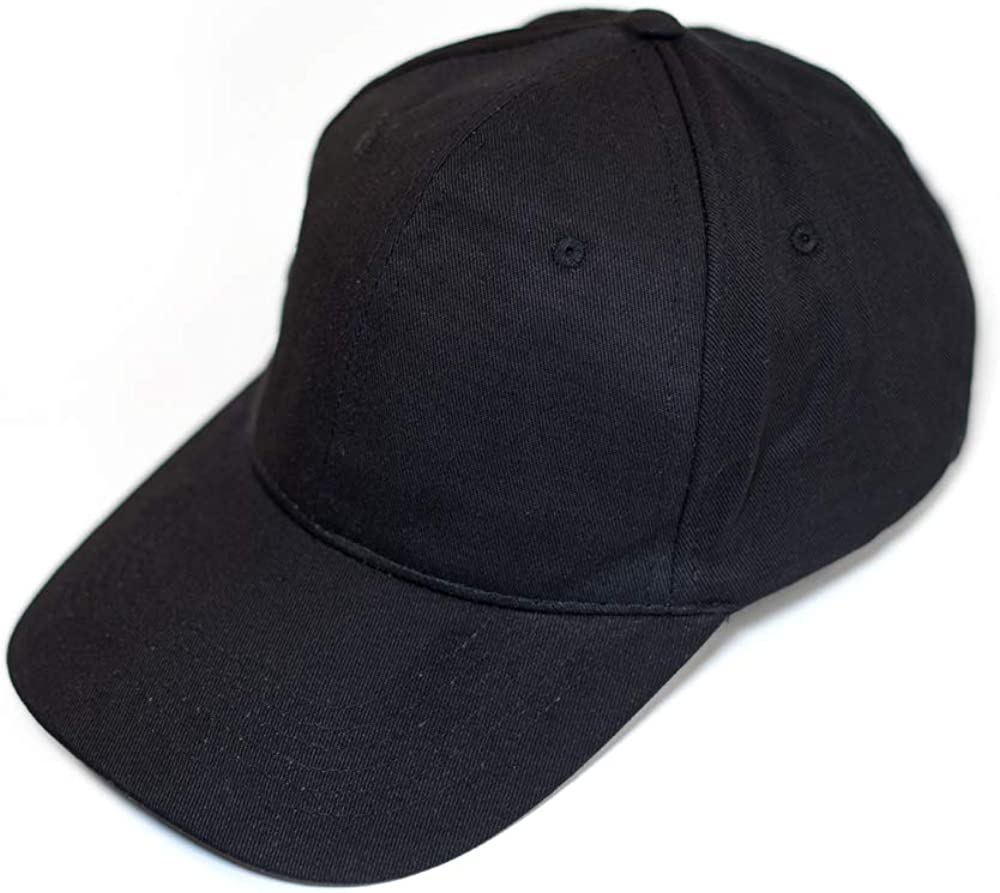 Baseball Cap Metal Buckle Blau 100/% Baumwolle Rot Metallschnalle Kappe Atmungsaktiv Wei/ß Grau Schwarz Unisex Men and Women//Herren oder Damen