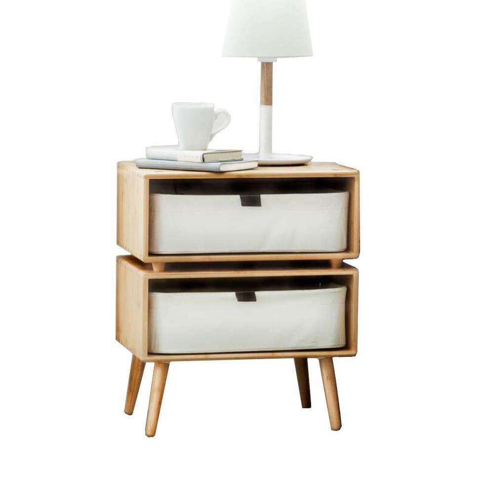 Desk Xiaolin Möbel 2 Schubladen Nachttisch/Nachttisch - Aufbewahrungsschrank Weiß Zwei Größen (größe : 64.5 * 34.5 * 52cm)
