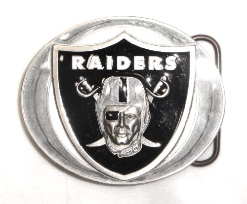 - OAKLAND RAIDERS COMMEMORATIVE Pro NFL PEWTER BELT BUCKLE; MADE IN USA