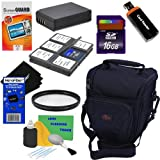 9pc Bundle 16GB Accessory Kit w/LP-E10 Battery Pack + HeroFiber Ultra Gentle Cleaning Cloth for Canon EOS Rebel T3 (1100D, KISS X50) Digital SLR Camera
