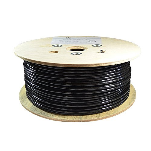(Dripstone 500ft CAT6 FTP Shielded Direct Burial Solid Copper Ethernet Cable 23AWG CMX Waterproof Wire HDPE Insulated Fluke Tested 550Mhz)