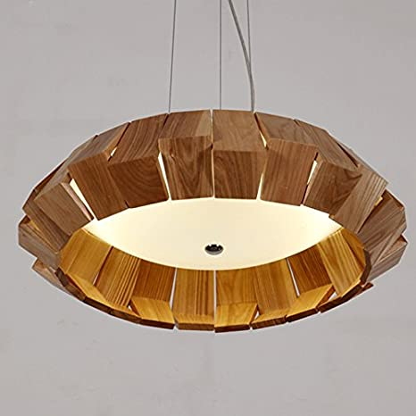 tianlaing04 plafoniere madera maciza Lámpara de techo ...