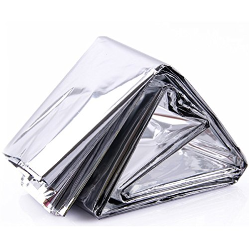 "Cosmos ® Pack of 6 Reusable Emergency Survival Mylar Thermal Blankets, 55"" x 82"""