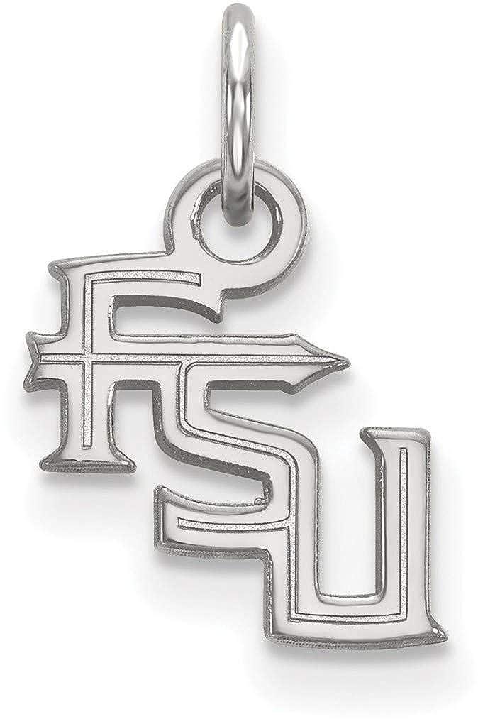 1W058FSU 10K White Gold Florida State University X-Small Pendant by LogoArt