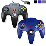 Wired Joystick Controller 2 Packs for Nintendo 64 N64 Console, EEEKit Game Solution Kit