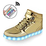 #5: Mingyuming MINGYU Boys Girls Kids With Remote 11 Colors LED Light Shoes High Top Flashing Rechargeable Sports Dancing Sneakers For Party and Christmas Best Gift