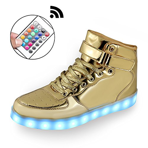 Mingyu Boys Girls Kids with Remote 11 Colors LED Light Shoes High Top Flashing Rechargeable Sports Dancing Sneakers