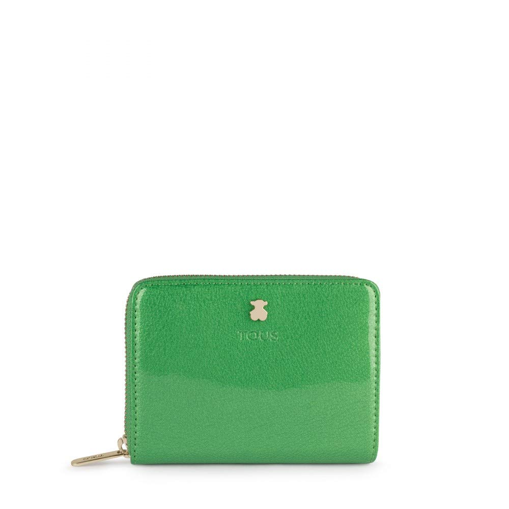 Tous 995960394, Monedero para Mujer, (Verde), 13x11x2 cm (W ...