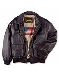 Leather++ Men's Air Force A-2 Leather Flight Bomber Jacket