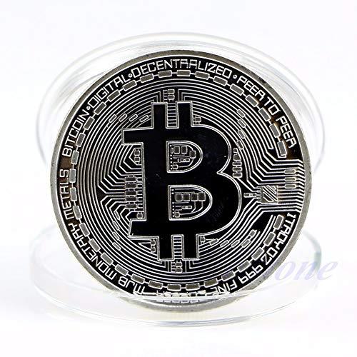 Collect Coin - 1pc Silver Plated Bitcoin Coin Collectible Btc Art Collection Gift Physical - Coin Lucky Copper Coin Souvenir Coin Coin Ps4 Non-currency Pussy Shirt 1808 Pp2000 Gold Souven ()