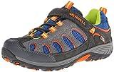 Merrell Chameleon Low A/C Hiking Shoe (Infant/Toddler/Little Kid),Grey/Blue,3.5 M US Big Kid