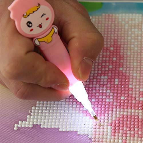 Diamond Painting Cross Stitch - 5d Diy Diamond Embroidery Point Drill Pen With Light Clearer Easy Painting Mosaic Cross Stitch - Set For Adults Star Wars Turtle Full Kits Tool Pen