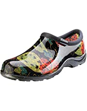 Sloggers Women's Waterproof Rain and Garden Shoe with Comfort Insole, Midsummer Black, Size 8, Style 5102BK08