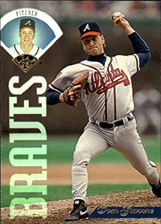 Amazoncom 1995 Leaf Baseball Card 250 Tom Glavine Near Mintmint