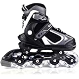 MammyGol Adjustable Inline Skates for Kids,Boys and Girls with Light up Wheels