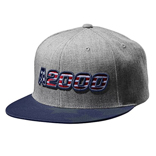 - Wilson Sporting Goods A2000 Heather Snapback Hat, Heather Grey/Navy, One Size