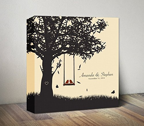 Amazon Com Personalized 1st Anniversary Canvas Gift For Couples