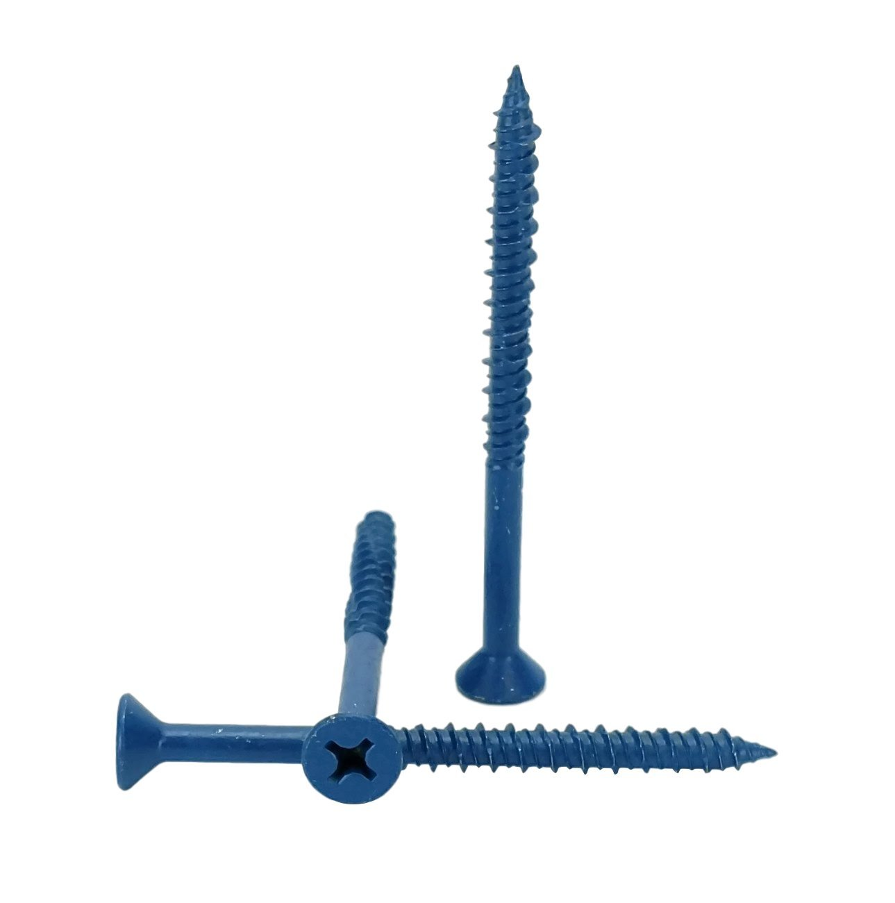 Chenango Supply 1/4 x 3-1/4'' Flat Head Concrete Screw Anchor. 100 pieces With Drill Bit(Miami-Dade Compliant) (1/4 x 3-1/4) by Chenango Supply