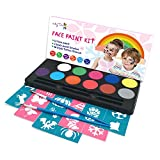 Maydear Face Paint Kit for Kids with Safe and None-Toxic FDA Compliant Water