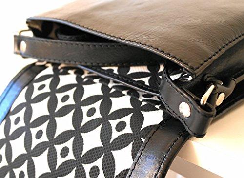 Borsa Messenger a tracolla SARRI + clutche porta smartphone. In vera pelle ed interni in tessuto pregiato. Modello UOMO DONNA Taglia piccola