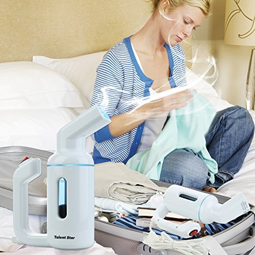 Garment Steamer, Handheld 150ML Clothes Steamer Fast-Heat Powerful Travel Garment Fabric Steamer Wrinkle Remover with Automatic Shut-Off Safety Protection, No Damage On Clothes by Talent Star (Image #1)