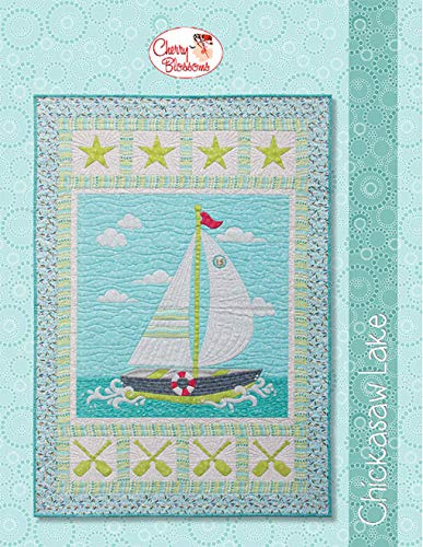 Chicasaw Lake by Cherry Guidry Modern Applique Quilt Pattern with SVG - Cherry Modern File