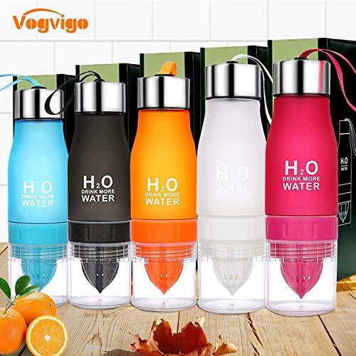 ml H20 Lemon Ju Water Bottle Fruit Bottle Infuser Drink Outdoor Sports Portable Water Kettle Gift: 650ml, ()