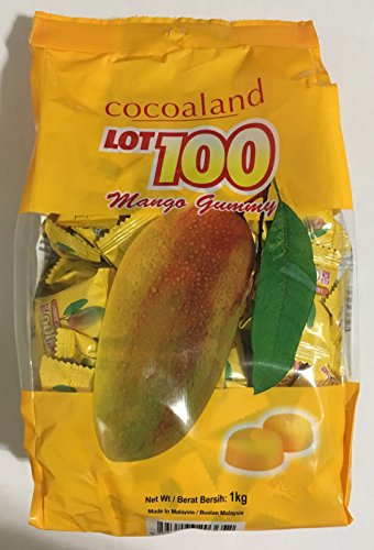 Cocoaland Mango Gummy 1kg, 35oz, Made in Malaysia by COCOALAND LOT 100