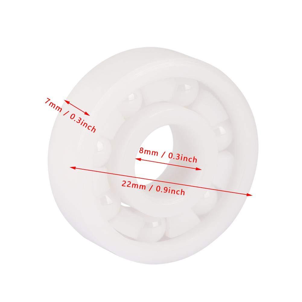 rodamiento de bolitas 608 de cer/ámica completa ZrO2 miniatura 8x22x7mm Rodamiento de cer/ámica 8pcs