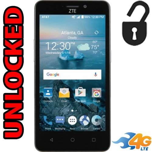 Zte Maven 2 Unlocked 4g Lte Quad Core Z831 5mp Flash 8gb Android 6.0.1 LCD 5.0 Desbloqueado